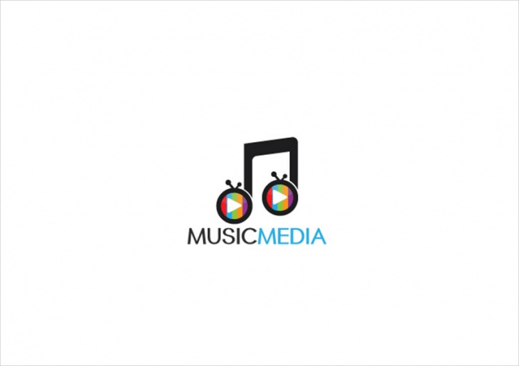 Music Media Logo Design