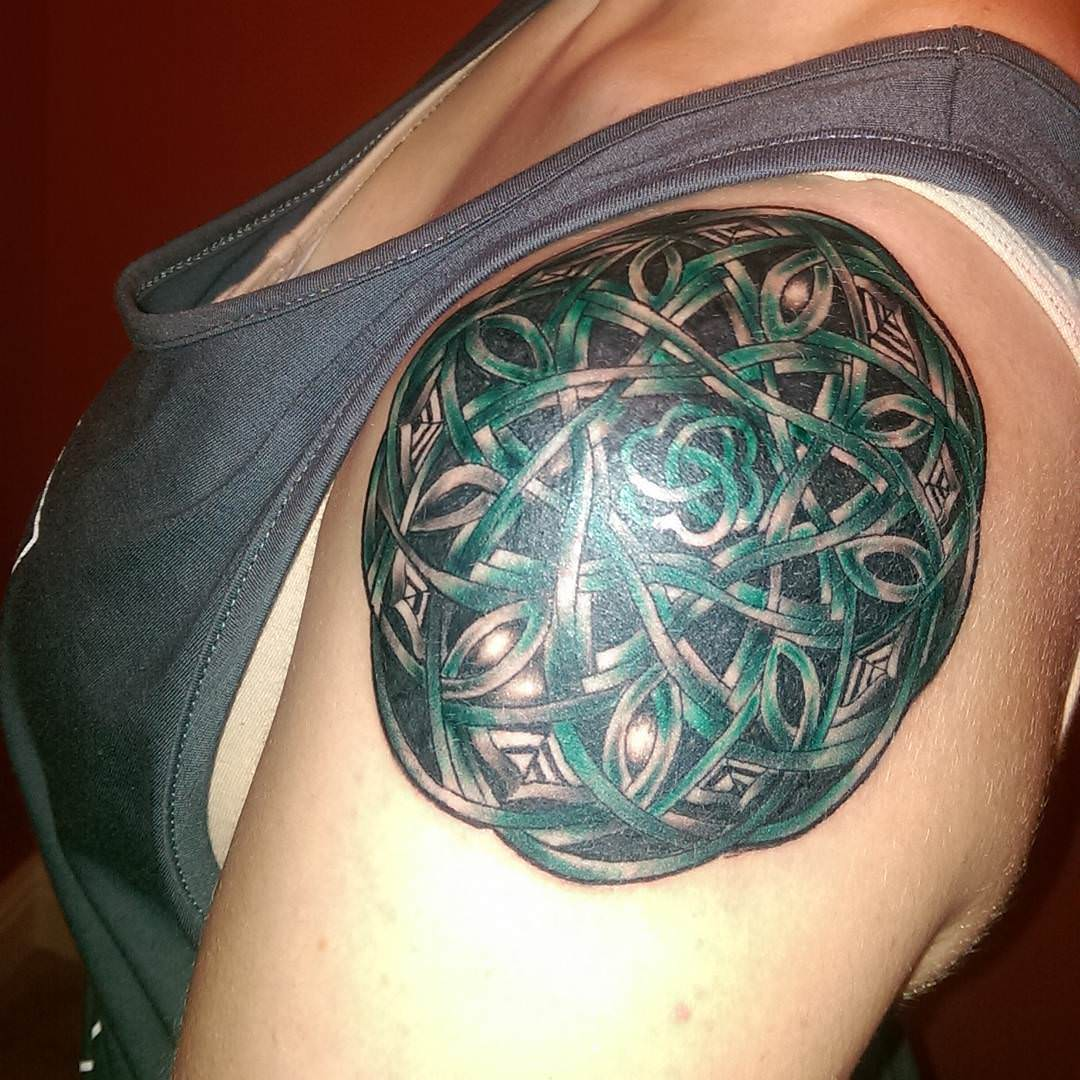 Celtic Mandala Tattoo on Sleeve
