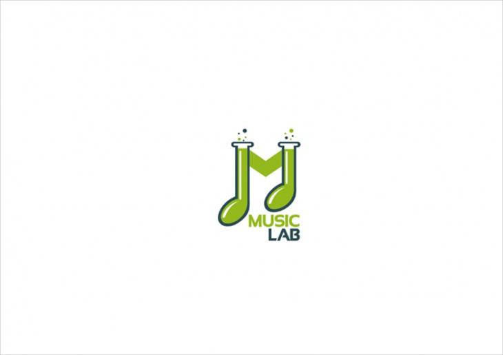 music lab logo design