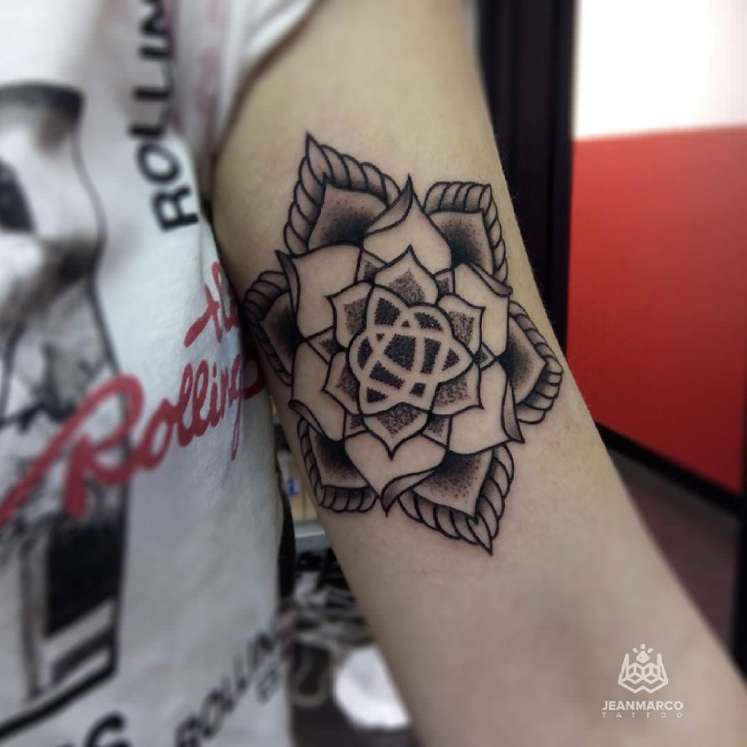Celtic Mandala Tattoo on Arms
