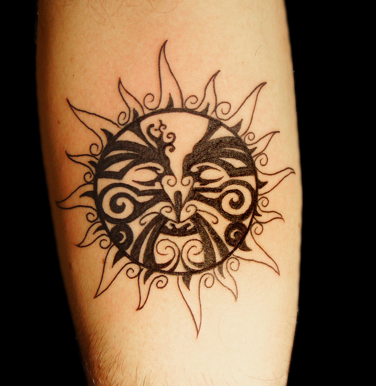 Tribal Sun Mandala Tattoo