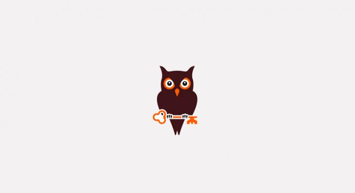 simple owl logo design