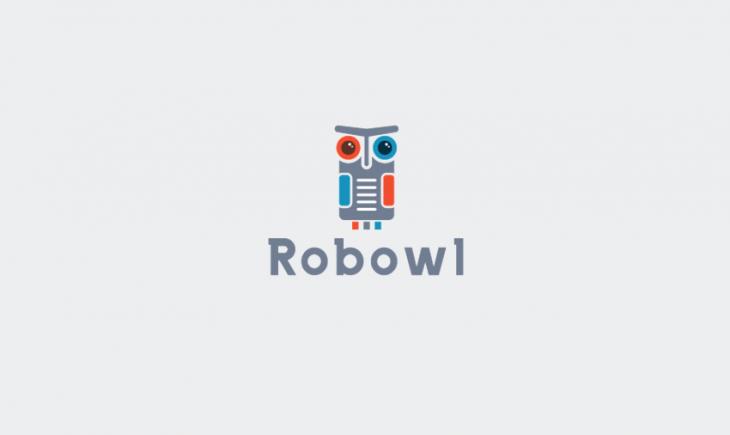 robo owl logo design