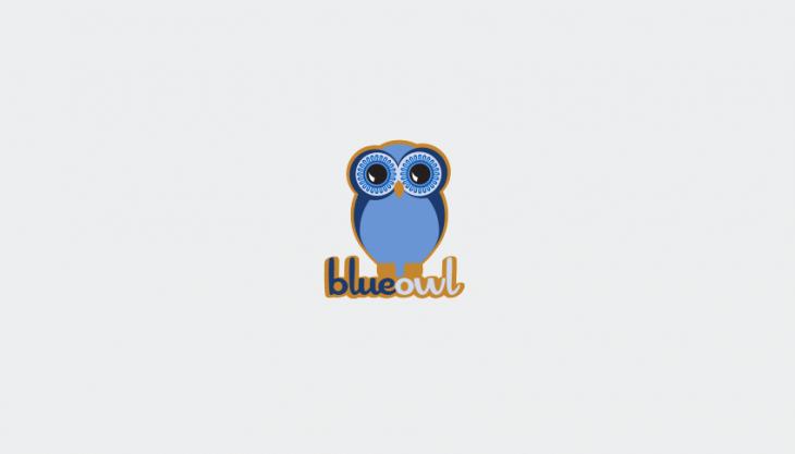 blue owl logo design