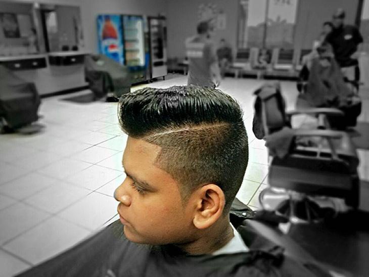 princeton pompadour hair