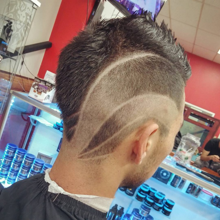 temple fade with part