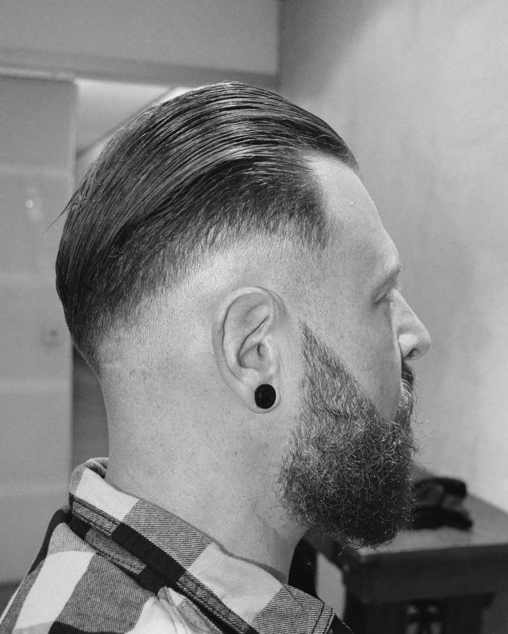 classic comb over fade