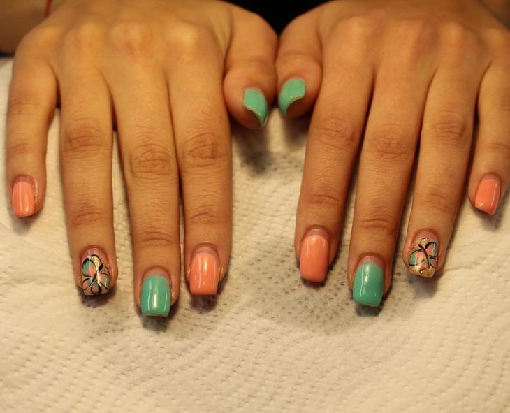decorative gel nail art