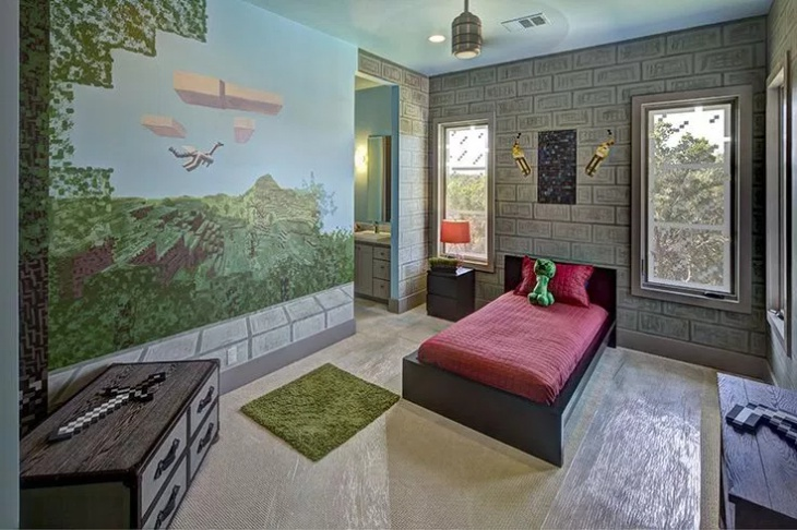 Kids Minecraft Bedroom Design