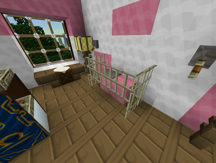 Light purple bedding - 20 Minecraft Bedroom Designs Decorating Ideas Design