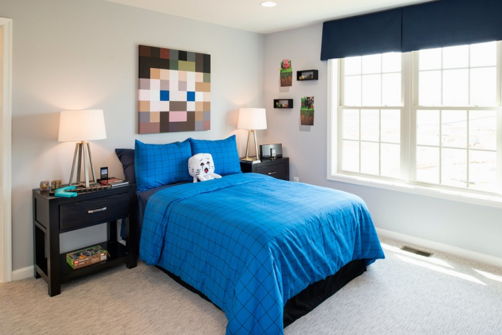 Bedroom Minecraft Wall Mural