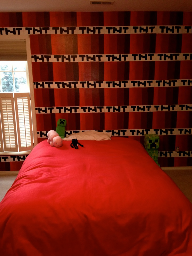 Kids Minecraft Bedroom Curtains