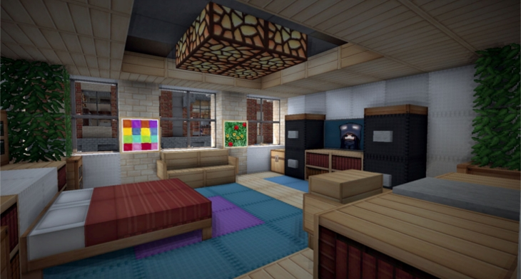 20 minecraft bedroom designs decorating ideas design 12392 | minecraft