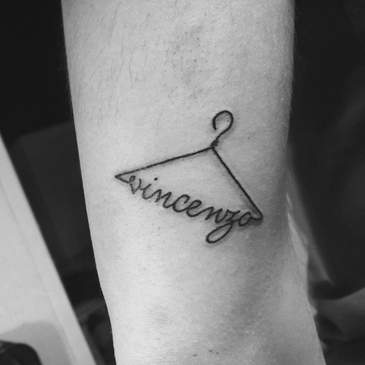 Black and Gray Name Tattoo