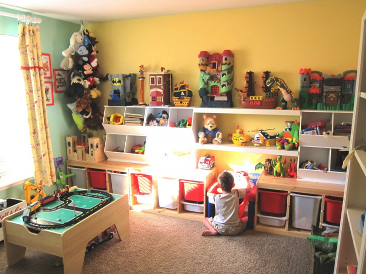Child Playroom Wall Shelves