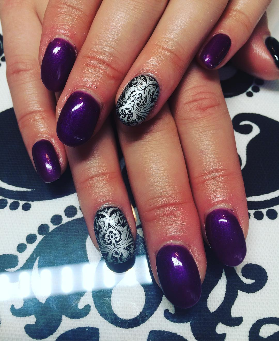 Neon Purple Nail Art
