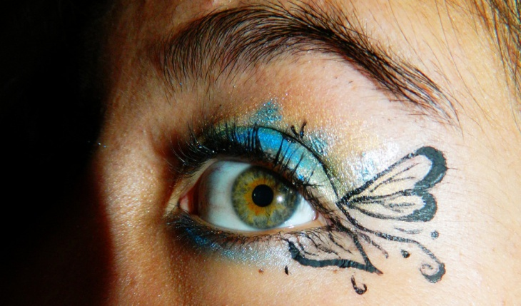 Butterfly Blue Eye Makeup
