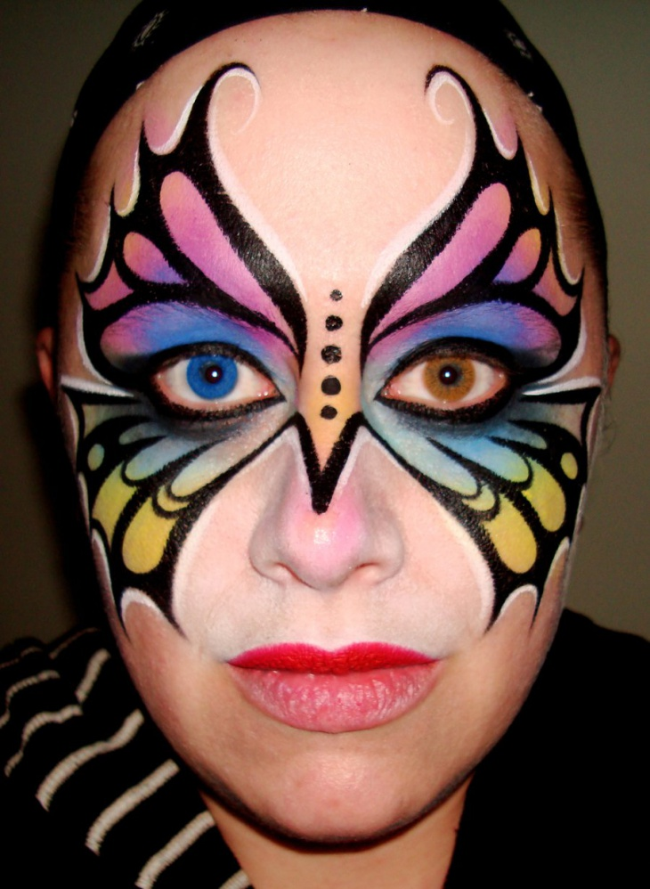 rainbow butterfly eye makeup