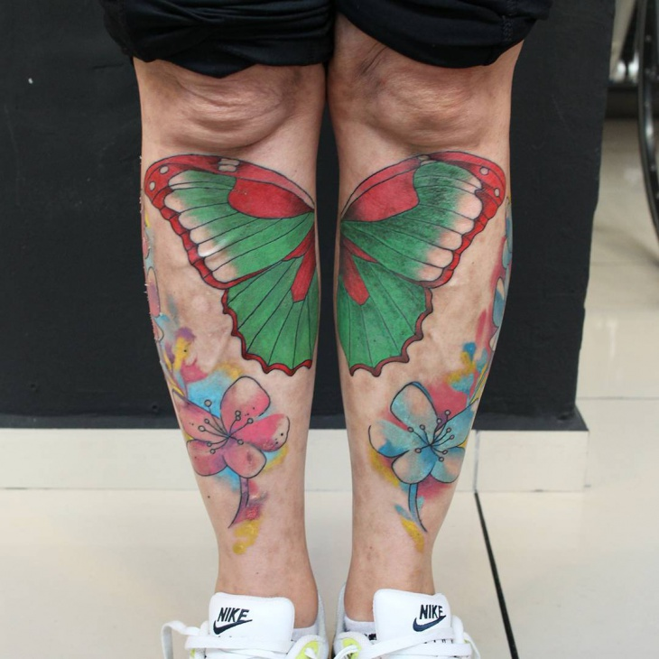 Butterfly Tattoo on Legs
