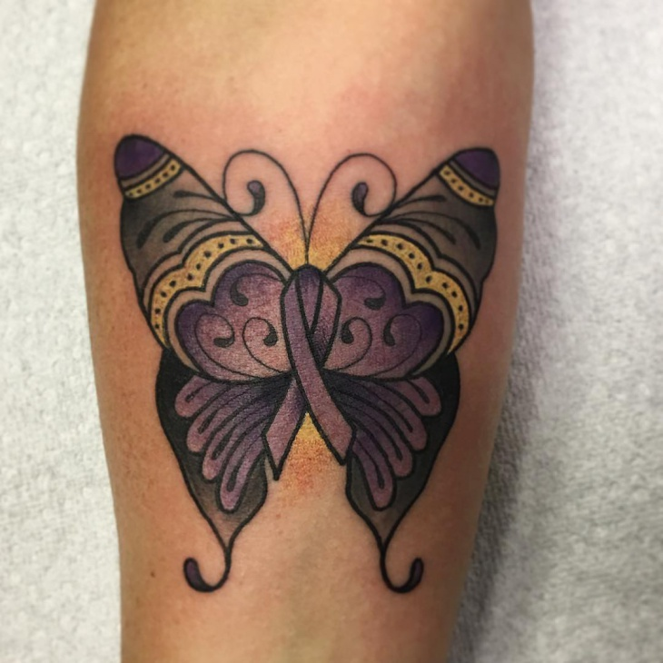 Butterfly Bow Tattoo Design