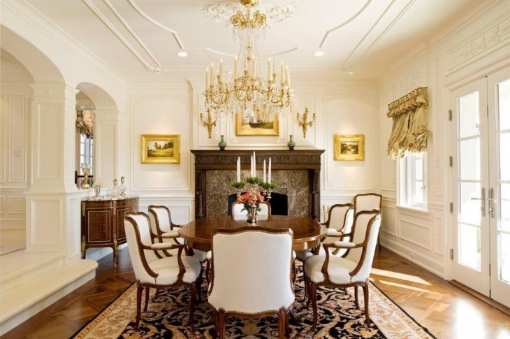traditional dining room ceiling design