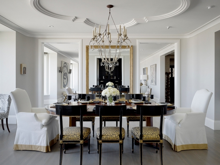 Superior White Dining Room Ceiling Idea Part 15