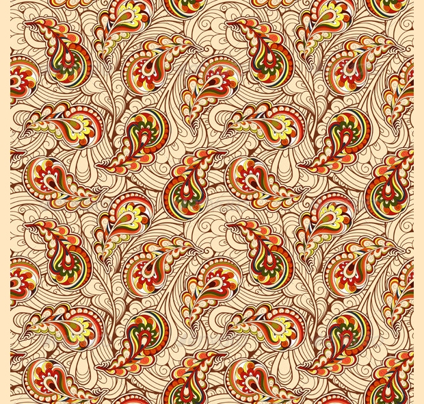 autumn paisely pattern