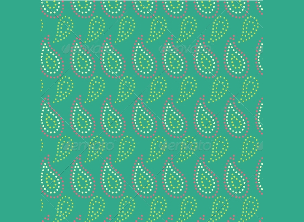 geometric paisely pattern design
