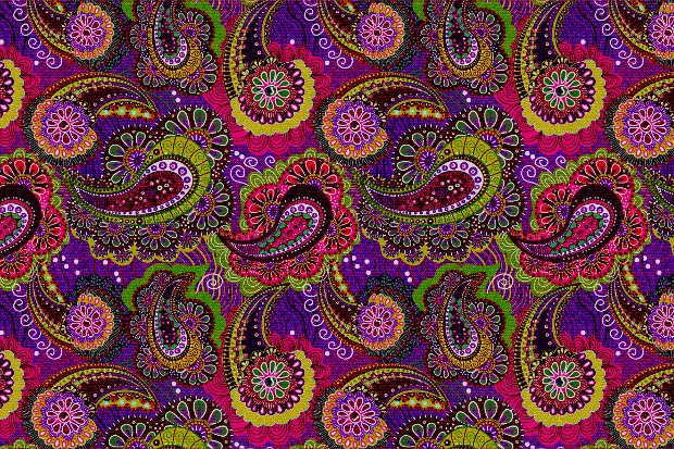 Seamless Paisely Pattern Design