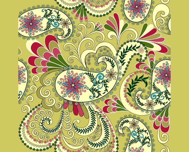 abstract paisely pattern design