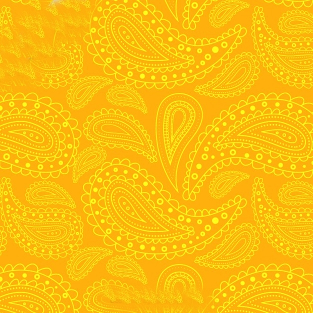 Yellow Paisely Pattern Design