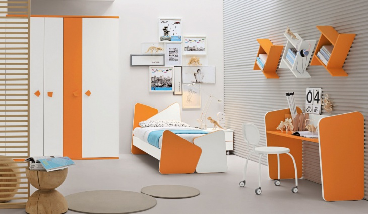 Orange Kids Study Table