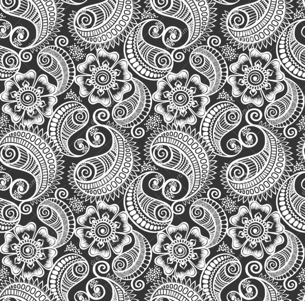 elegant seamless paisely pattern