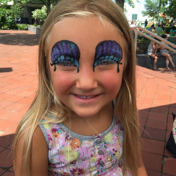 Kid's Butterfly Eye Makeup Idea