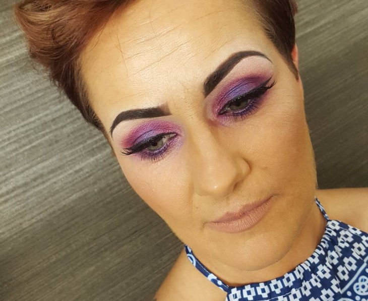Purple Eye Makeup Design