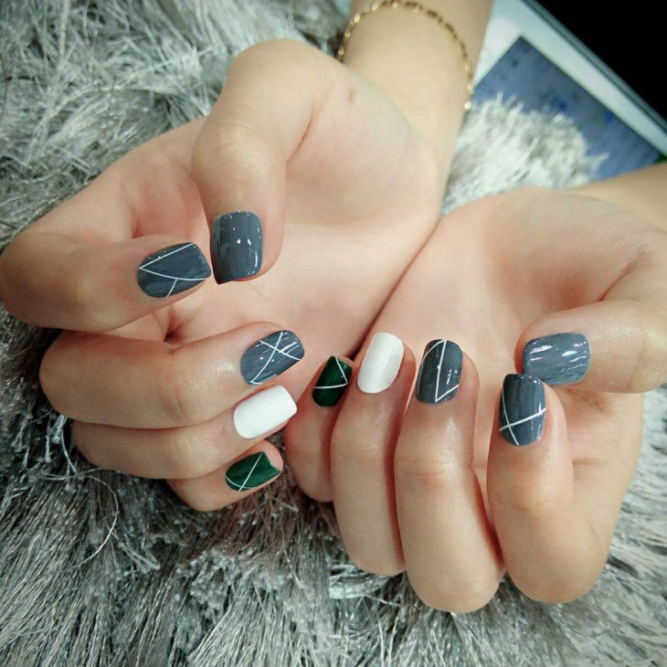 Cool Simple Nail Art Idea - 20+ Simple Nail Art Designs, Ideas Design Trends - Premium PSD