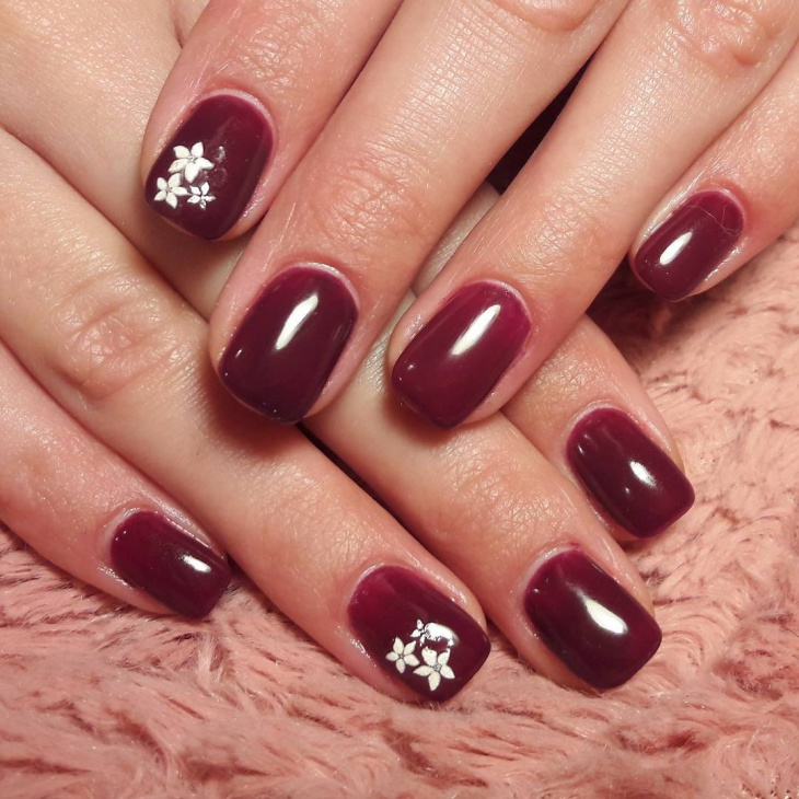 Simple Flower Nail Design - 20+ Simple Nail Art Designs, Ideas Design Trends - Premium PSD