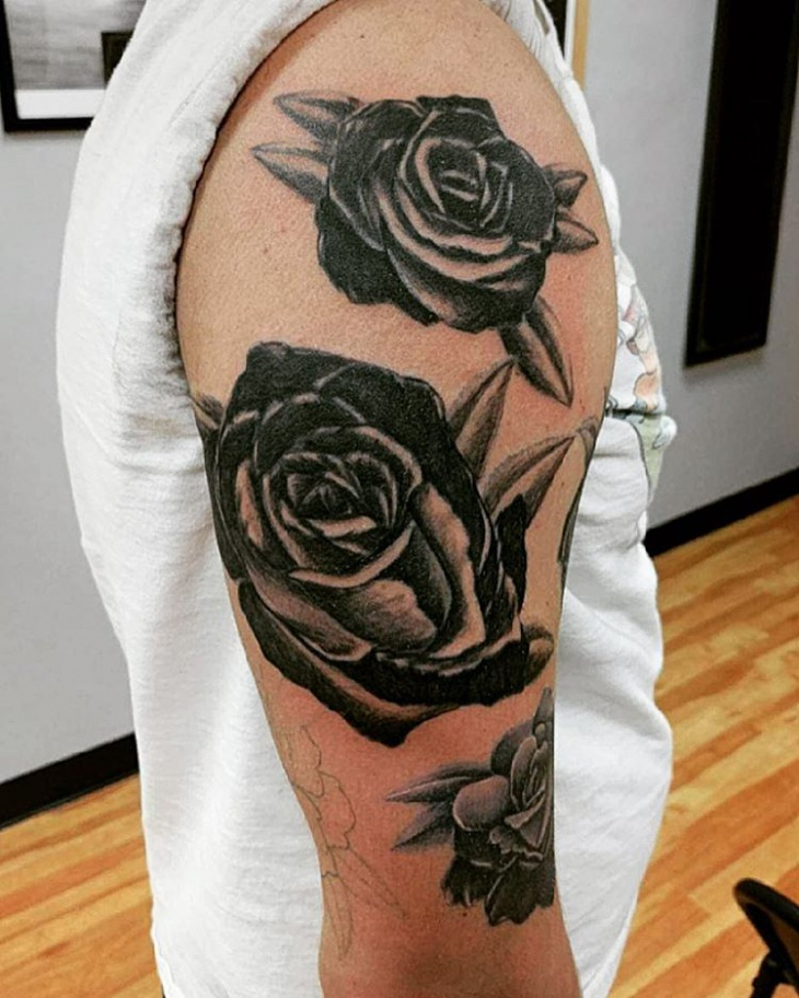 Rose Flower Sleeve Tattoo