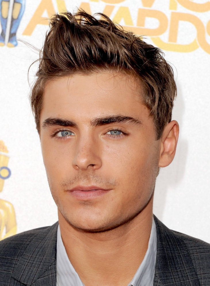 Zac Efron Spiky Hair Design for Men