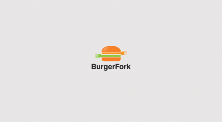 burger fork logo design