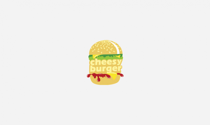Cheesy Burger Logo Design