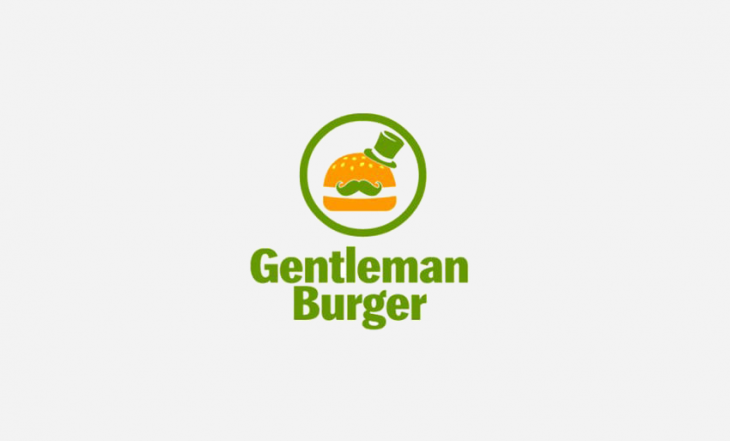 Circular Burger Logo Design