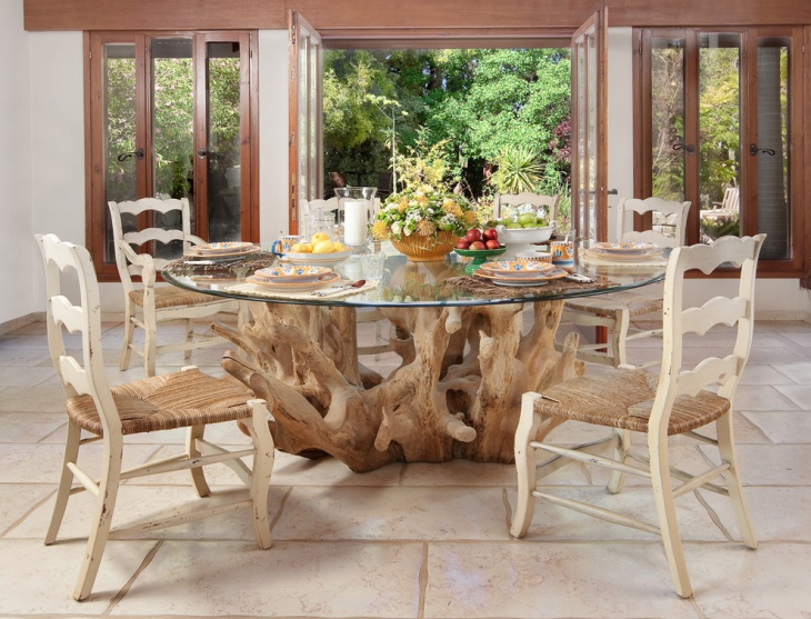 glass dining table design