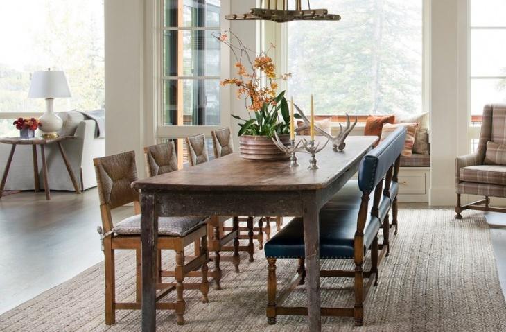 rustic dining table design idea