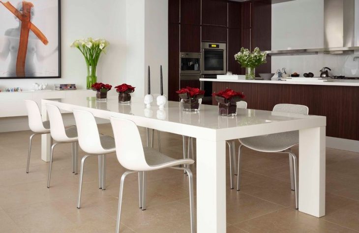 simple white dining table idea