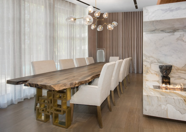 narrow dining table design