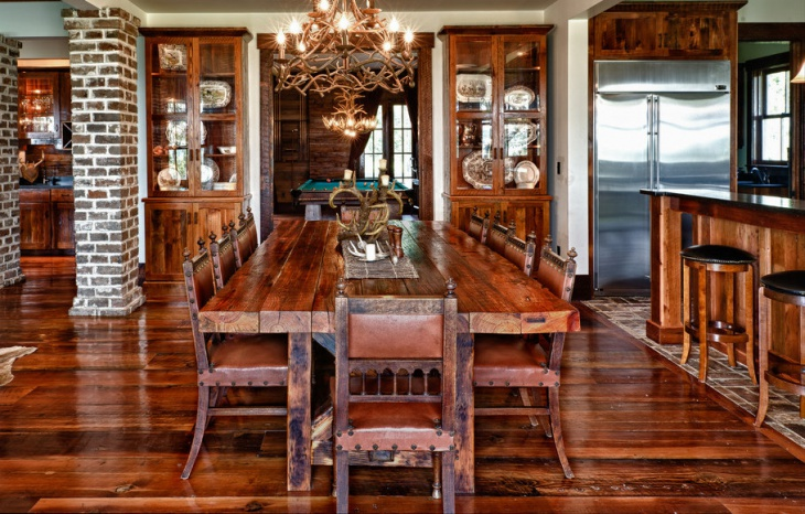 Rustic Wood Dining Table Design