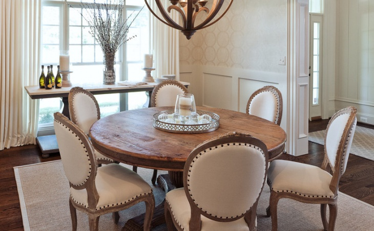 traditional round dining table design