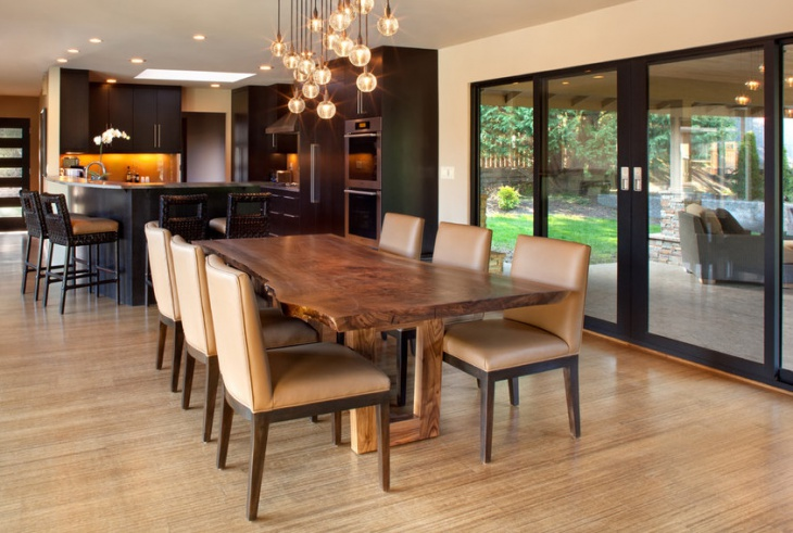 Contemporary Kitchen Dining Table Idea