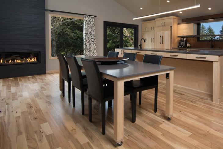 rolling dining table design idea